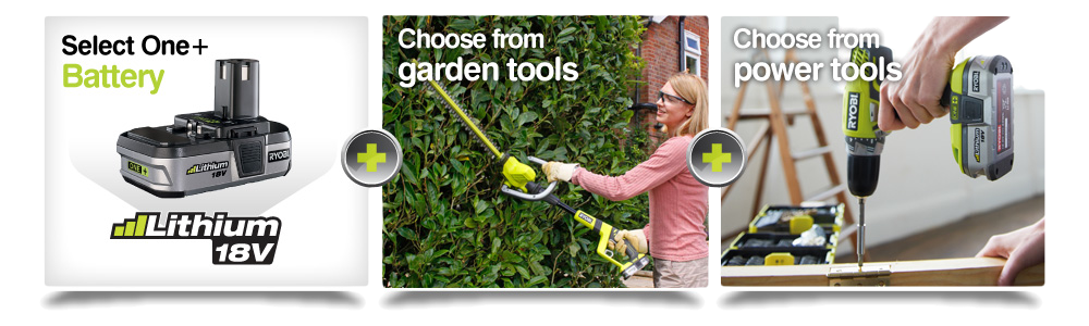 Home and garden cyprus ryobi one for Top quality garden tools
