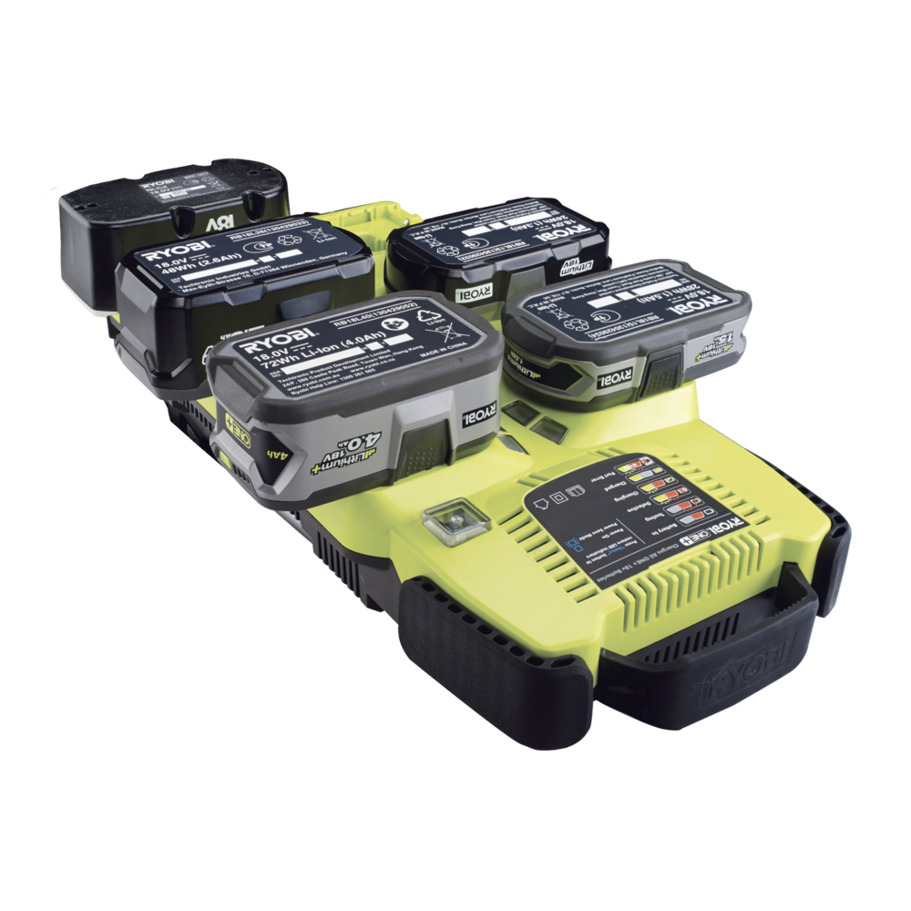 batteries and chargers ryobi 6 port charger 18v one bcs618. Black Bedroom Furniture Sets. Home Design Ideas