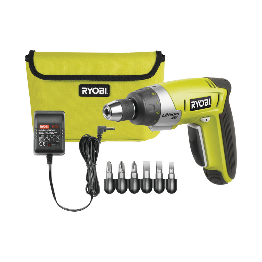 Cordless Drivers Ryobi Screwdriver With 30 Accessories