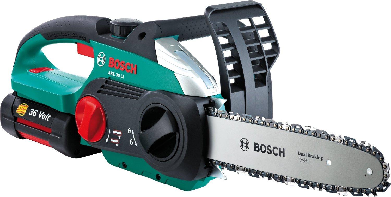 chainsaws bosch cordless 36v chainsaw li ion battery ake 30 li. Black Bedroom Furniture Sets. Home Design Ideas