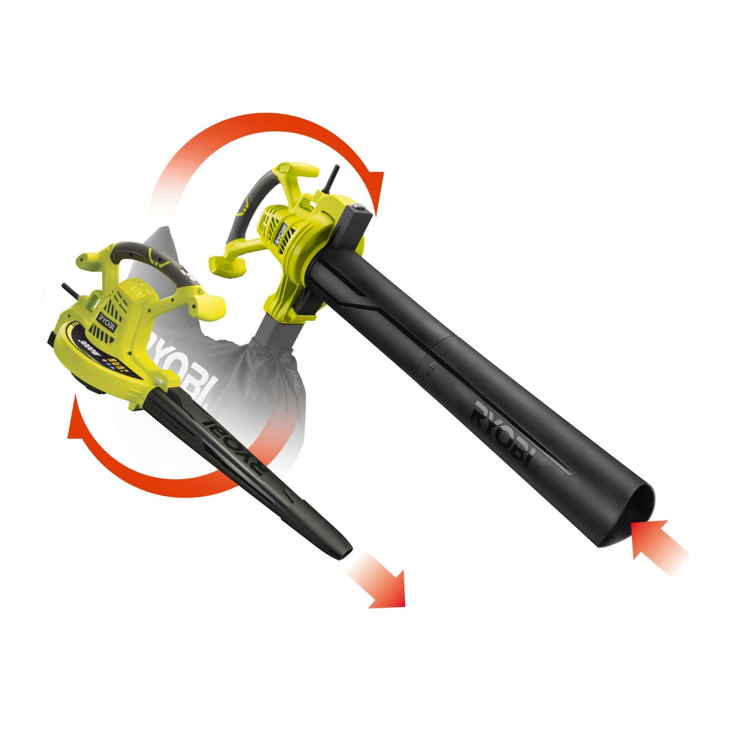 Electric Blowers Product : Garden blowers ryobi electric blower vac rbv csv