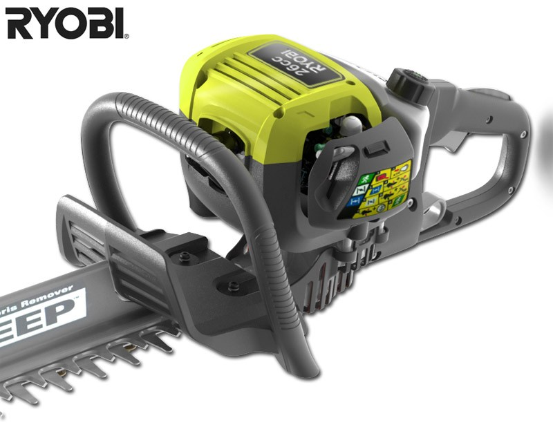 super sale petrol hedge trimmer ryobi 26cc rht2660r. Black Bedroom Furniture Sets. Home Design Ideas