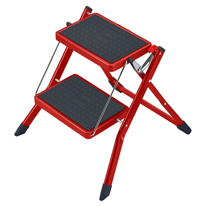 Step Ladders And Step Stools Hailo Ladder Mini Red 2