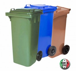 GENETRAL 120L BIN BROWN MADE IN ITALY